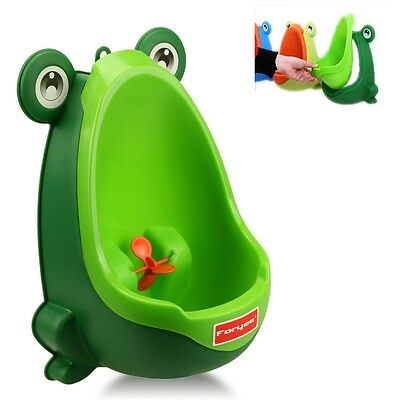 Potty Training Urinal Baby Toilet Pot Toddler Boy Pee Bathroom Frog Kid Children