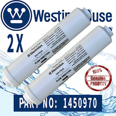2x  Genuiune  Westinghouse 1450970 Fridge WATER FILTER 258MM LONG