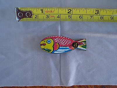 Vintage 1950's Tin Lithographed Fish Whistle Made in Japan