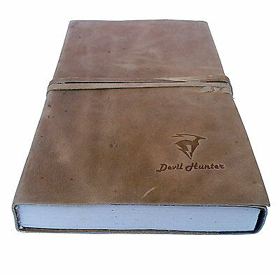 Handmade Vintage Leather Journal Diary Notebook For Men Women BIG 9""