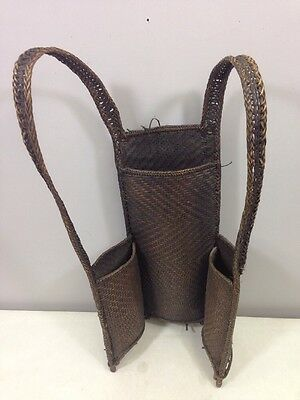 Laos Gie Trieng Hunting Backpack Woven Rattan