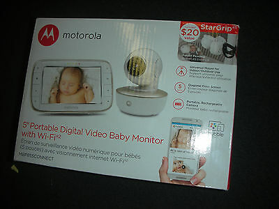 """*New* Motorola MBP855Connect 5"""" Portable Digital Video Baby monitor With WiFi"""