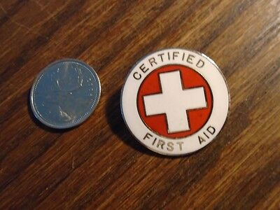 Certified First Aid Pin - Metal - Made In Usa