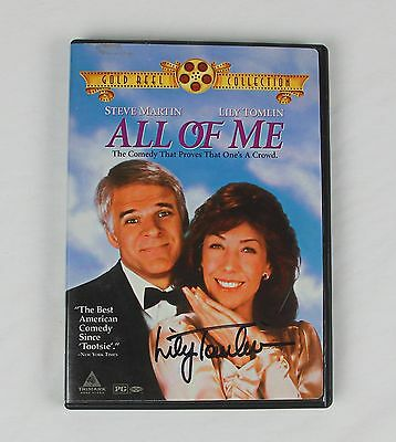 Lily Tomlin All of Me Authentic Autographed DVD Cover COA