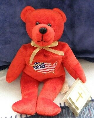 """Beanie Baby """"America Holy Bear"""" . NEW with tags. NEXT DAY SHIPPING!"""