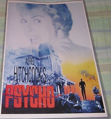 Alfred Hitchcock's Psycho 1960 Horror Replica Movie Poster W/ Top Loader