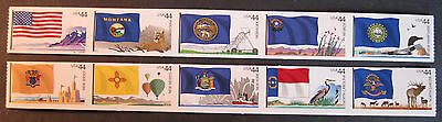 U.s. Pnc Of Ten Scott # 4303-4312 State Flags 4Th Series