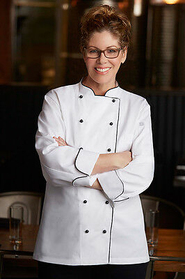 New Chef Works Lausanne Women's Executive Chef Coat - WICC WHT XS Extra Small