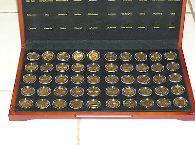 24k GOLD PLATED US STATE QUARTER COLLECTION 56 US STATES and TERRITORIES