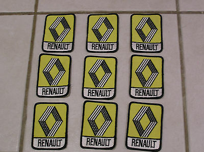 RENAULT F1 RACING PATCHES x 9 no. BRAND NEW 1970'S 1980'S STOCK NEW JOB LOT