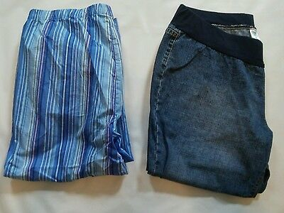 Lot of maternity clothes/ capris size xl
