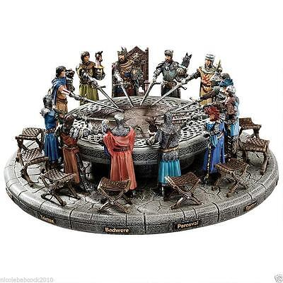 Medieval King Arthur The Knights Of The Round Table Hand Painted Sculptural Set