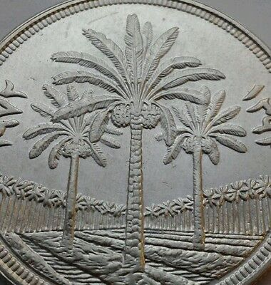 Iraq 1 Dinar 1972. KM#137. One Silver Dollar Crown coin. Palm trees.