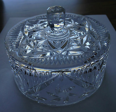 Pinwheel Chrystal Butter Dish Cover - Round