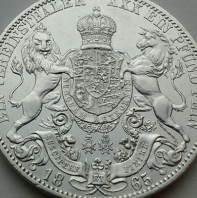 Hanover  1 Thaler 1865 B !!! KM#230. ONE SILVER dollar coin. German States.