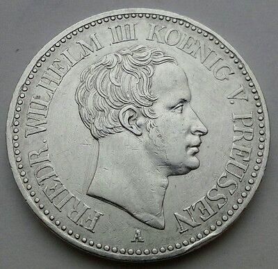 Prussia 1 Thaler 1823A. KM#413. .900 SILVER One  dollar coin. German States.