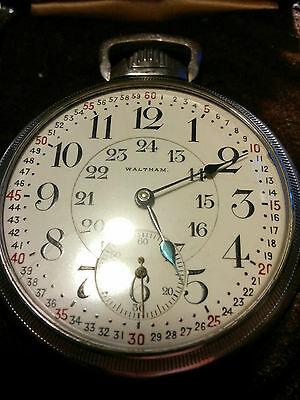EXTREMELY COLLECTABLE 1907 Waltham Vanguard 23 Jewel RAILROAD Grade Pocket Watch