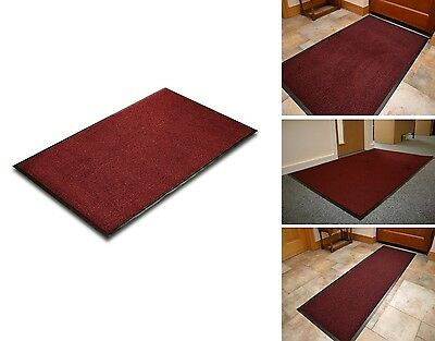 Commodore Red/Black Quality High Absorbent Entrance Door Barrier Mat 80x140CM
