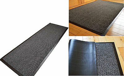 Commodore Grey/Black Quality High Absorbent Entrance Door Barrier Mat 60x150CM