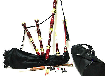 bagpipes with golden nickle mounts Brown Color Full Size