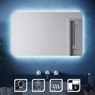 Illuminated LED Mirror Bathroom | Demister | Vertical Horizontal | Touch | IP44