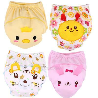 Baby Toddler Cute 3 Layers Waterproof Potty Training Pants Washable Underwear