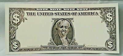 RARE Miley Cyrus Tour Dollar Bill Stage Used During Her Show Money Prop