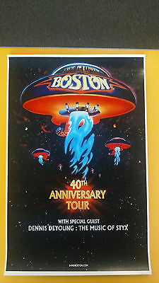 Boston 40th anniversary 11x17 promo tour band concert poster tickets
