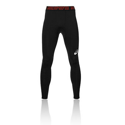 Asics Recovery Mens Black Compression Training Long Tights Sports Bottoms Pants