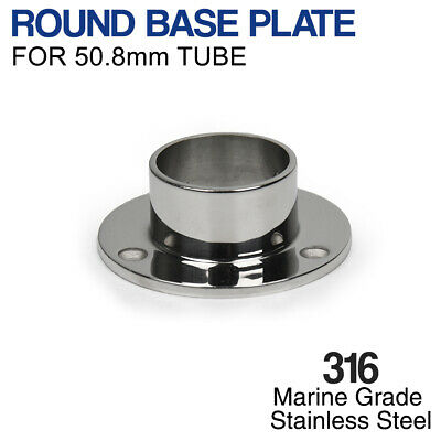 316 Stainless Steel ROUND BASE PLATE For 50.8mm Mirror Finish Tube Balustrade