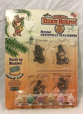 NEW Vintage paint by number christmas ornaments Teddy Ruxpin