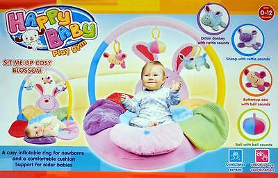 New Happy Baby Sit Me Up Cosy Blossom Inflatable Ring Comfortable Cushion (Girl)