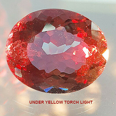 Rare 20.45 Ct Oval Smokey Diaspore With Magical Color Change (Lab Created)