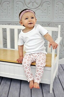 L'oved Baby Mix-and-match Leggings Miles-of-Tiles Pink 3T