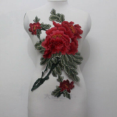 1 Pcs Pretty Large Flower Embroidery Lace Applique/Patch Motif Sew On For Dress
