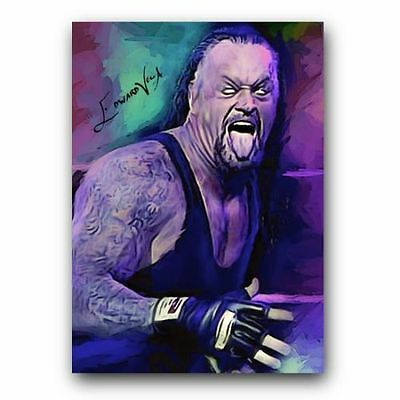 ACEO WWE The Undertaker # 2 Hand Paint Art Sketch Card 1/5 Limited Artist Signed