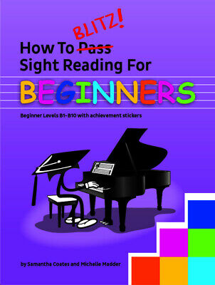 How To Blitz Sight Reading For Beginners Book *NEW* Music
