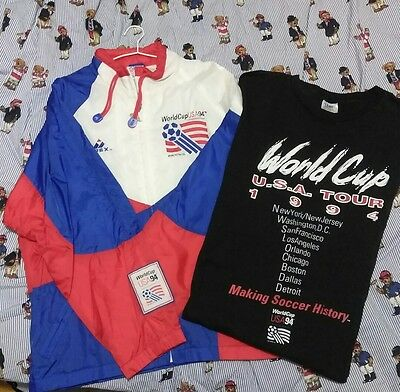 1994 apex one fifa world cup team usa jacket and tshirt lot