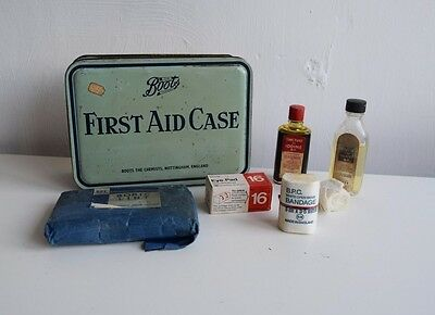 Vintage Boots First Aid Tin with Contents