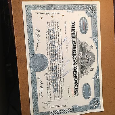 North American Aviation-Stock Certificate (Now Boeing), Clean Vignette