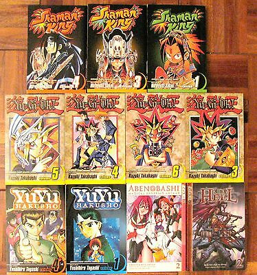 ANIME MAGAZINE LOT  of 11 YU-GI-OH SHAMAN KING YUY HAKUSHO ABEN BASHI