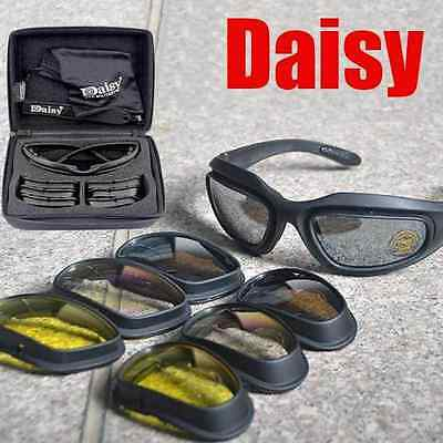 Daisy C5 Tactical Military Hunting Shooting Airsoft Hiking Goggles 4 Lenses