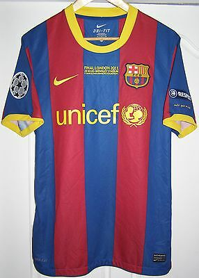 "Camiseta Barcelona champions league 2011 final shirt Messi 10 size ""M"" jersey"