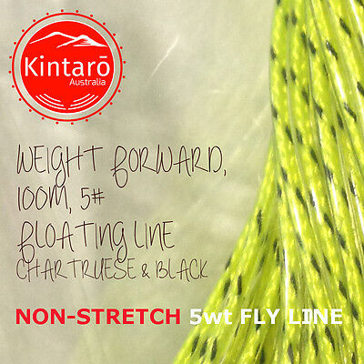 100 Metres NON-STRETCH 5x Floating Fly Line, Fly Fishing
