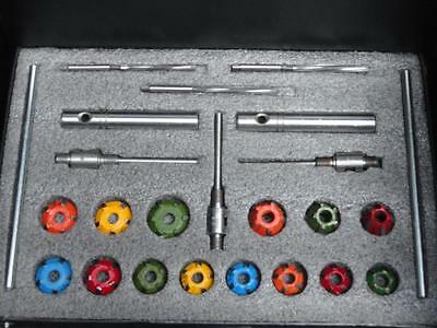 14 Pcs Valve Seat Cutter Set Carbide Tipped+3Reamers+3 Stems+2Arbours+2 Drv Rods