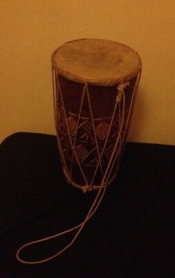 Indian Drum - Mango Wood & Leather