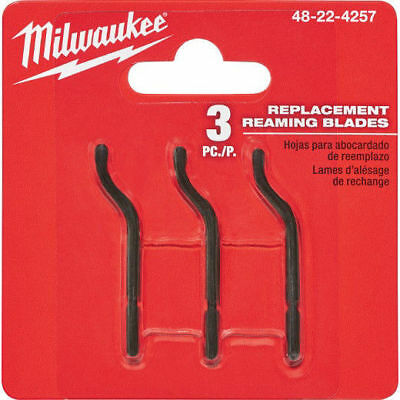 Milwaukee 3-Piece Replacement Reaming Blades 48-22-4257 New