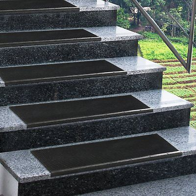 Non Slip Stair Treads All Weather Outdoor Staircase Mats Rubber Step Cover