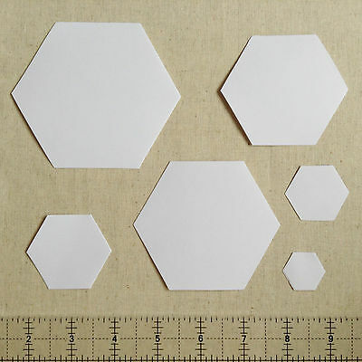 English Paper Piecing Hexagon Templates 120gsm | Various Sizes & Quantities
