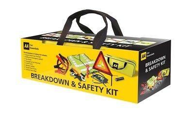 AA Car Essentials Emergency Breakdown Safety Kit Tyre Inflator Warning Triangle